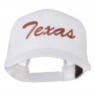 Mid States Texas Embroidered Mesh Back Cap - White