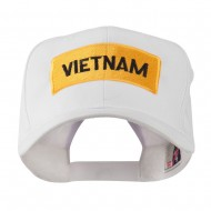 Military Badge of Vietnam Embroidered Cap - White