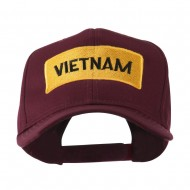 Military Badge of Vietnam Embroidered Cap - Maroon