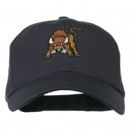 Small Bison Mascot Embroidered Low Profile Cap - Navy