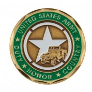 Proud U.S. Army Coin (1) - Green Veteran