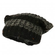 Multi Color Long Beanie - Black