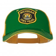 Eastern Michigan State Police Patched Big Washed Mesh Cap - Kelly Gold