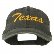 Mid State Texas Embroidered Washed Cap - Black