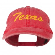 Mid State Texas Embroidered Washed Cap - Red