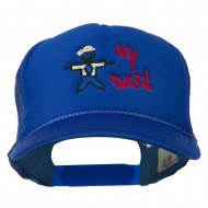 My Dad Embroidered Youth Foam Golf Mesh Cap - Royal
