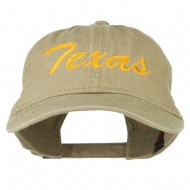 Mid State Texas Embroidered Washed Cap - Khaki