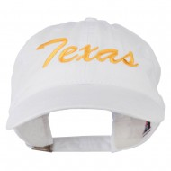 Mid State Texas Embroidered Washed Cap - White