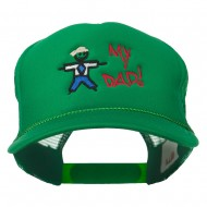 My Dad Embroidered Youth Foam Golf Mesh Cap - Kelly