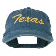 Mid State Texas Embroidered Washed Cap - Navy