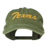 Mid State Texas Embroidered Washed Cap - Olive Green