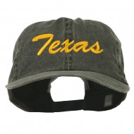 Mid State Texas Embroidered Big Size Washed Cap - Black