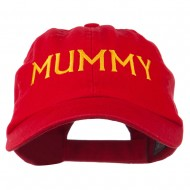 Mummy Embroidered Pet Spun Washed Cap - Red