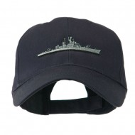 Navy Ship Missile Embroidered Cap - Navy