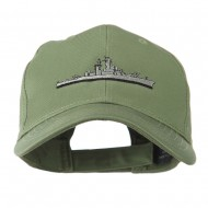 Navy Ship Missile Embroidered Cap - Olive