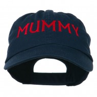 Mummy Embroidered Pet Spun Washed Cap - Navy