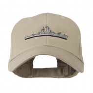 Navy Ship Missile Embroidered Cap - Khaki