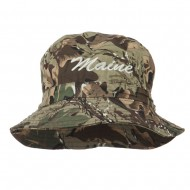 Maine Embroidered Bucket Hat - Camo
