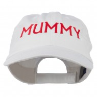 Mummy Embroidered Pet Spun Washed Cap - White