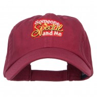 Someone Special and Me Patched Cap - Wine