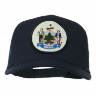Maine State Patched Mesh Cap - Navy