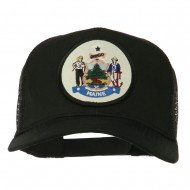 Maine State Patched Mesh Cap - Black