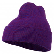 Men's Acrylic Cuff Beanie Cap - Purple