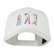 Men's Golf Sequence Embroidered Cap - White