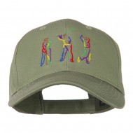 Men's Golf Sequence Embroidered Cap - Olive