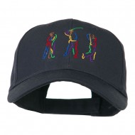 Men's Golf Sequence Embroidered Cap - Navy