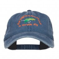 Man Heart His Fly Embroidered Mesh Cap - Navy