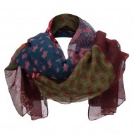 Mix Stars Summer Scarf - Red