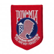 Pow Mia Embroidered Military Patch - Pow Red