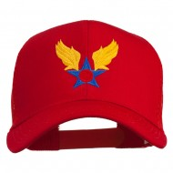 Army Air Corps Military Embroidered Mesh Back Cap - Red