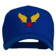 Army Air Corps Military Embroidered Mesh Back Cap - Royal