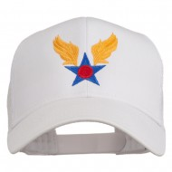 Army Air Corps Military Embroidered Mesh Back Cap - White
