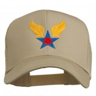 Army Air Corps Military Embroidered Mesh Back Cap - Khaki