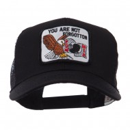 Pow Mia Embroidered Military Patched Mesh Cap - Not Forgotten