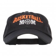 Basketball Mom Embroidered Low Profile Cap - Black