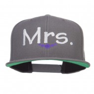 Mrs Embroidered Snapback Cap - Dk Grey