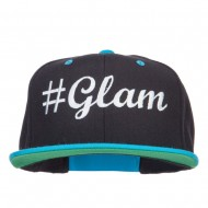 Glam Embroidered Two Tone Snapback - Black Teal