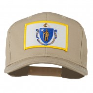 Massachusetts State High Profile Patch Cap - Khaki