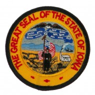 Mid State Seal Embroidered Patch - Iowa