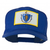 Massachusetts State High Profile Patch Cap - Royal