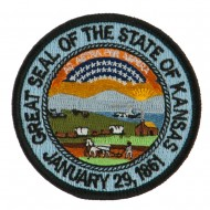 Mid State Seal Embroidered Patch - Kansas
