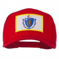 Massachusetts State High Profile Patch Cap - Red