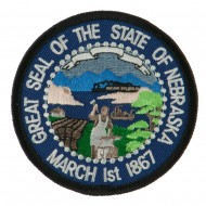 Mid State Seal Embroidered Patch - Nebraska