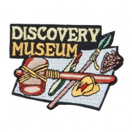 Discovery Museum Embroidered Patch - Black