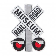 Railroad Museum Embroidered Patch - White