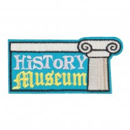 History Museum Embroidered Patch - Blue Pink